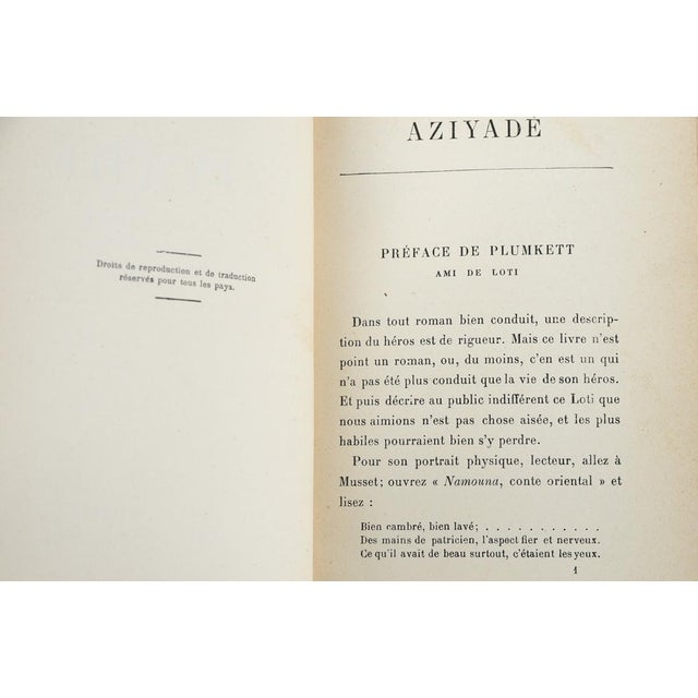 """""""Aziyade"""" Book by Pierre Loti, 1925 For Sale - Image 4 of 7"""