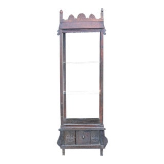 Antique World Asian Far East Spanish Country Display Cabinet Etagere For Sale
