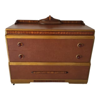 Naugahyde Art Deco Brown Dresser