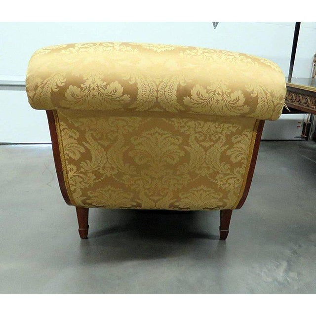 Wood Adams Style Chaise Lounge Chair For Sale - Image 7 of 10