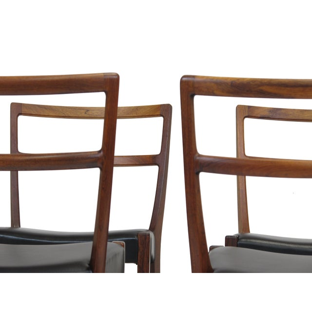 Rosewood Johannes Andersen for Bernhard Pedersen & Sons Rosewood Dining Chairs - Set of 8 For Sale - Image 7 of 8