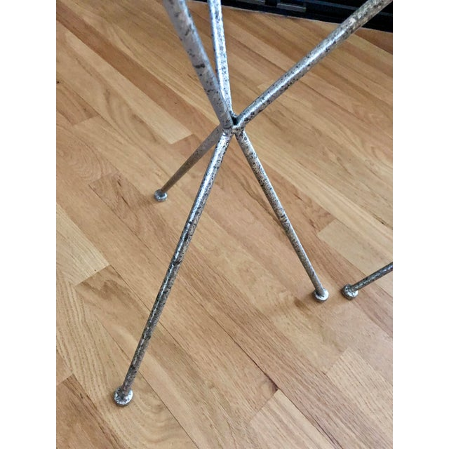 Uttermost Modern Iron & Tempered Glass Tripod Accent Tables - a Pair For Sale - Image 10 of 13