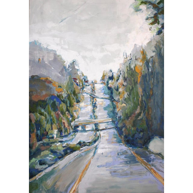 Highway 13 Oil Painting - Image 1 of 3