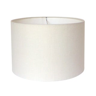 Off-White Linen Lamp Shade For Sale