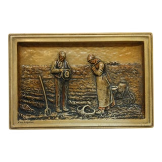 "Hanging Ceramic Sign ""The Angelus"" Circa 1960 For Sale"