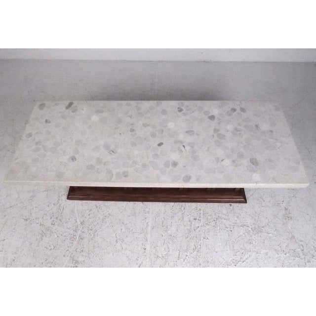 Vintage Modern Terrazzo Top Coffee Table