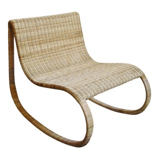 Raw Rattan Rocking Chair For Sale