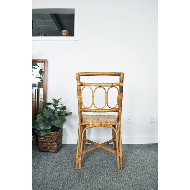 Antique 1920's Bamboo & Rattan Chairs - A Pair For Sale In Minneapolis - Image 6 of 10