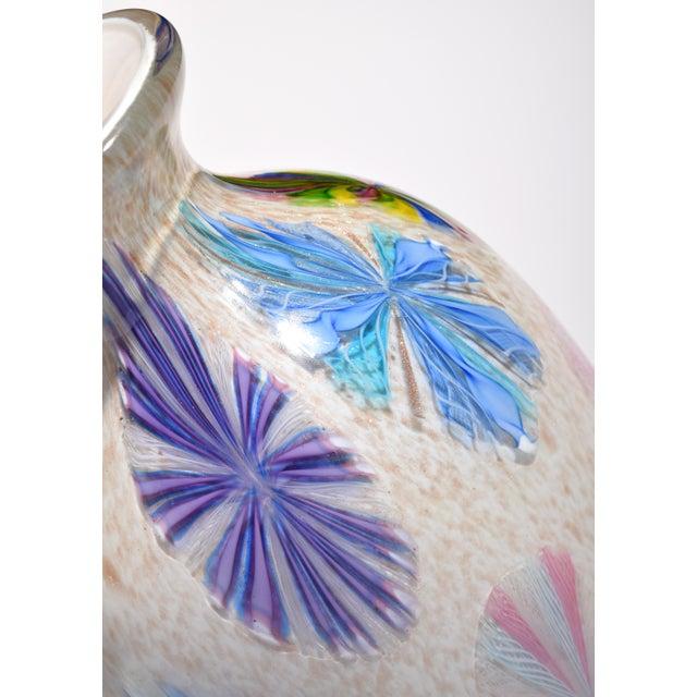 Mid 20th Century Vintage Dino Martens Pinwheel Design Vase, Provenance Lobel For Sale - Image 5 of 9