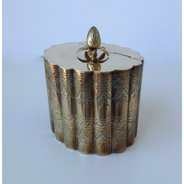 Brass English Moorish-Style Tea Container - Image 7 of 11