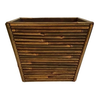 Pencil Reed Rattan Waste Paper Basket For Sale
