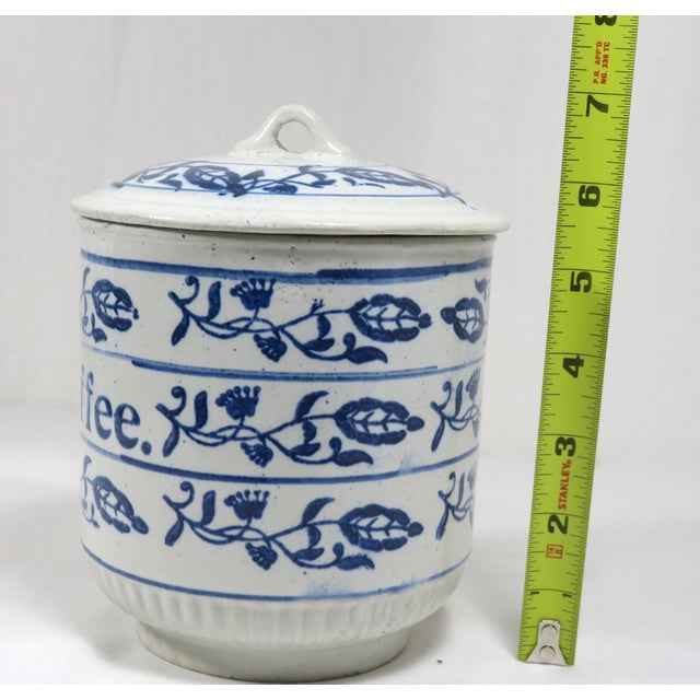 Antique American Stoneware Kitchen Coffee Jar For Sale - Image 11 of 13