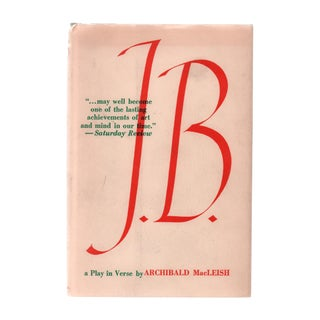 """1958 """"First Edition, J. B.: A Play in Verse"""" Collectible Book For Sale"""