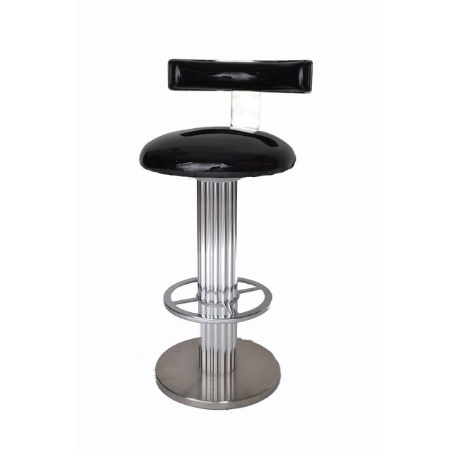 Silver Designs for Leisure Bar Stool For Sale - Image 8 of 9