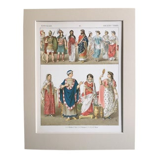 "19th Century ""Etruscan Ancient Times"" Costume Print For Sale"