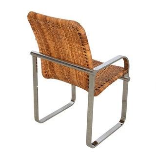 Set of 4 Milo Baughman Chrome & Rattan Chairs Preview