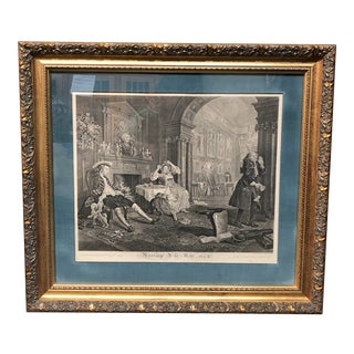 Marriage a La Mode Vintage Engraving For Sale
