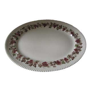 "Vintage English Johnson Brothers Empire Grape ""Turkey"" Platter For Sale"