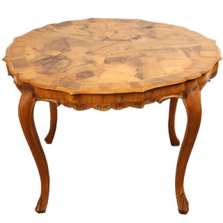 Danish Walnut Inlaid Side Table For Sale