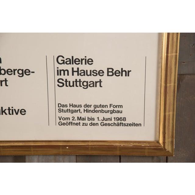 1960s 1968 Vintage Friedrich Vordemberge-Gildewart Exhibition Poster For Sale - Image 5 of 7