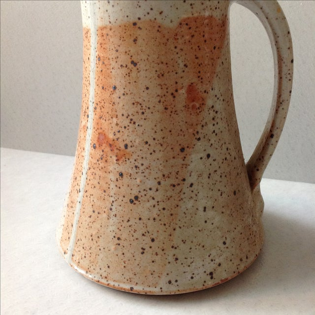 Rustic Modern Studio Pottery Raku Pitcher - Image 5 of 10