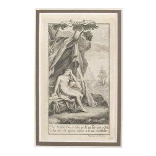 1781 Italian Engraving, Divine Comedy (Dante Alighieri) Canto 10 For Sale