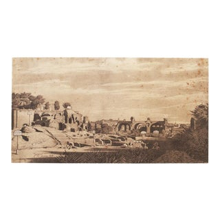 """Rome 1818"" by Jean-Auguste-Dominique Ingres, Large Vintage Lithograph For Sale"