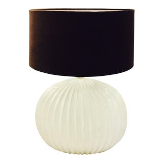 Vintage Mid-Century Modern White Ceramic Table Lamp For Sale