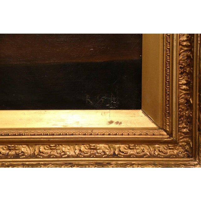19th Century English Still Life Painting in Gilt Frame Signed and Dated 1847 For Sale - Image 4 of 6