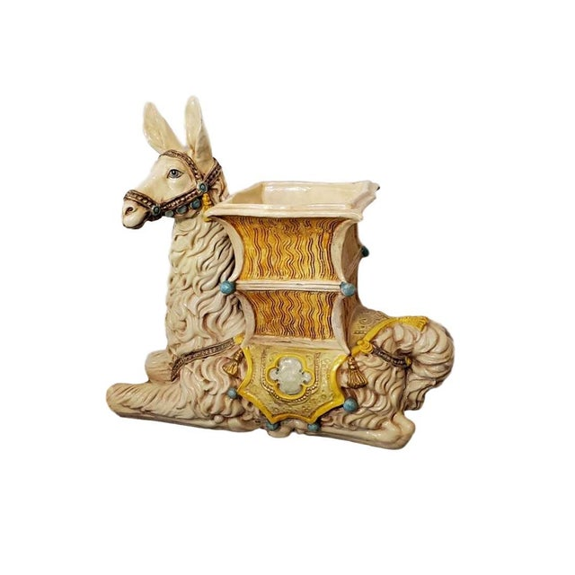 Vintage Indoor Llama Figural Planter For Sale - Image 11 of 11