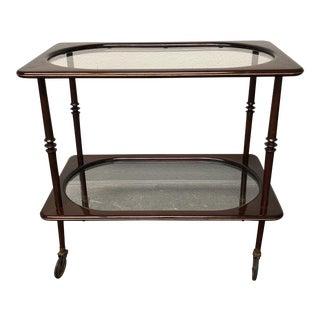Vintage Mahogany & Glass Bar Cart