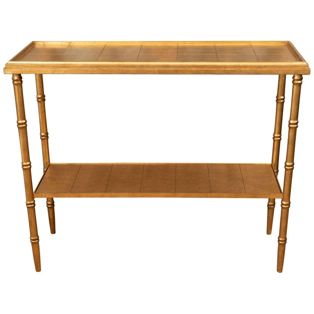 Gold Console Table For Sale - Image 10 of 10