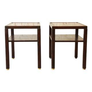 Edward Wormley for Dunbar Mahogany Side Tables - a Pair For Sale