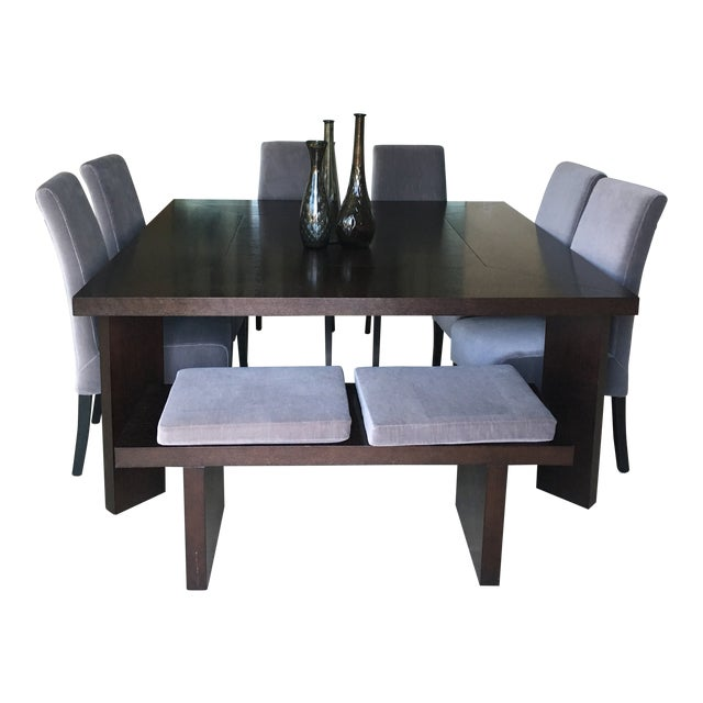 Modern Classic Dining Set & Vases For Sale