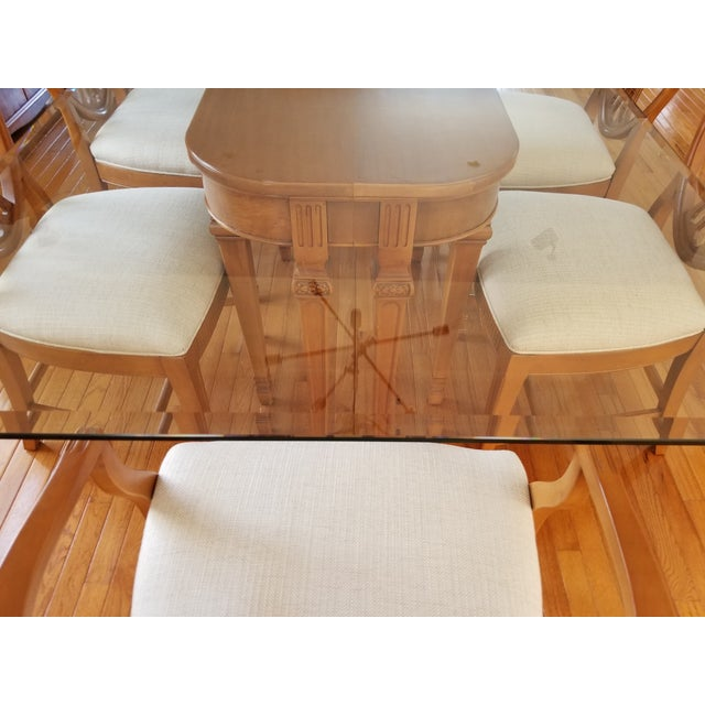 1930's Myrtlewood Dining Table and Chairs (1 of 3 Listings) For Sale - Image 9 of 11