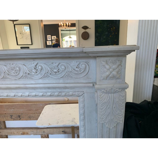 1900s Marble Fireplace Mantel For Sale - Image 11 of 12