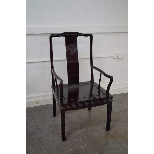 Quality Solid Chinese Rosewood Dining Chairs - 8 - Image 7 of 10