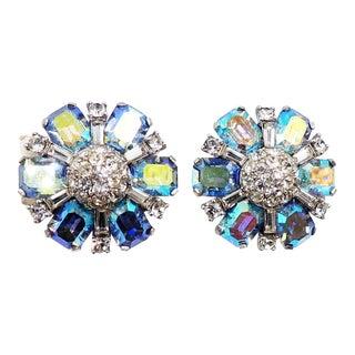1960s Jomaz Aurora Borealis Earrings For Sale