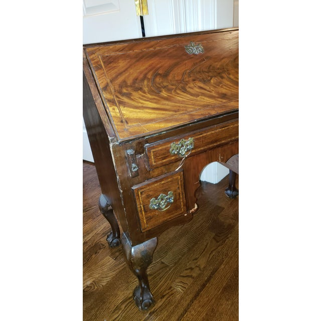 English Traditional Antique English Traditional Wood Secretary Desk For  Sale - Image 3 of 8 - Antique English Traditional Wood Secretary Desk Chairish