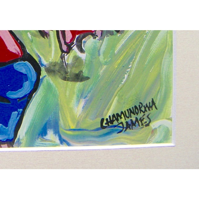 "James Chamunorwa ""African Expressionism"" Painting - Image 3 of 3"