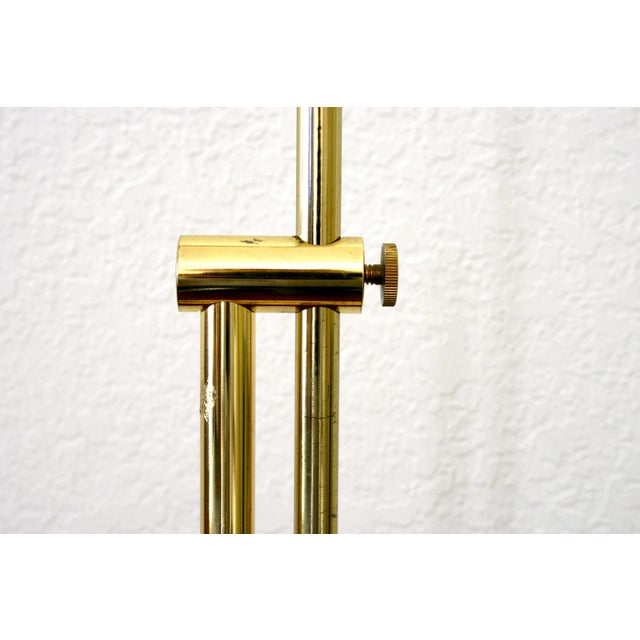 1970s Industrial Brass Pharmacy Floor Lamp For Sale In Seattle - Image 6 of 10
