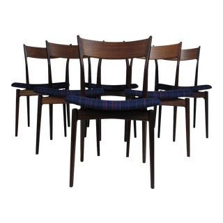 H. P. Hansen for Randers Danish Rosewood Dining Chairs - Set of 6 For Sale