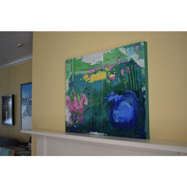 "Stephen Remick Abstract Painting, Garden Party Painting - 24"" X 30"" - Image 3 of 9"
