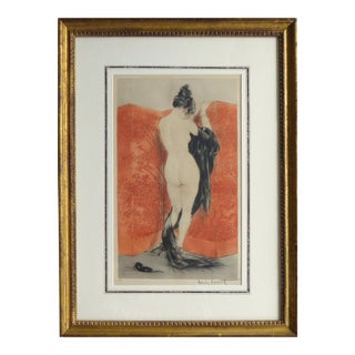 """The Lacquered Screen"" by Louis Icart (1880-1950), Pencil Signed 2/89 For Sale"