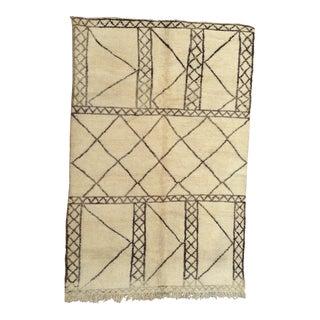 Vintage Moroccan Rug- 6′5″ × 9′8″ For Sale