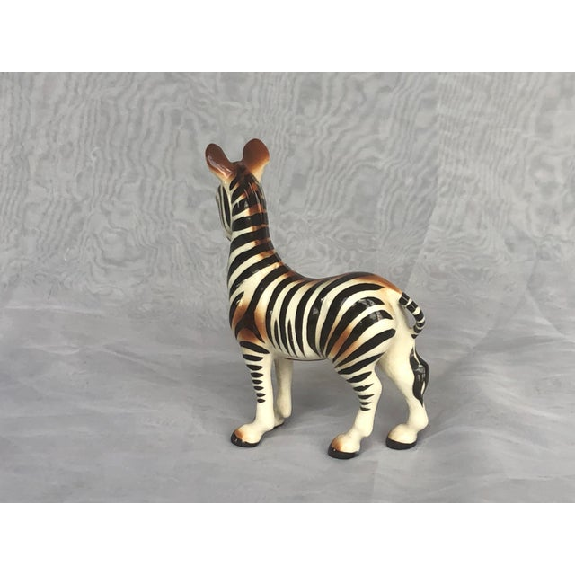 Mid-Century Modern Fern Importation Ceramic Zebra Figurine For Sale In New York - Image 6 of 12