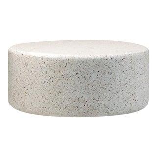 White Round Terrazzo Coffee Table