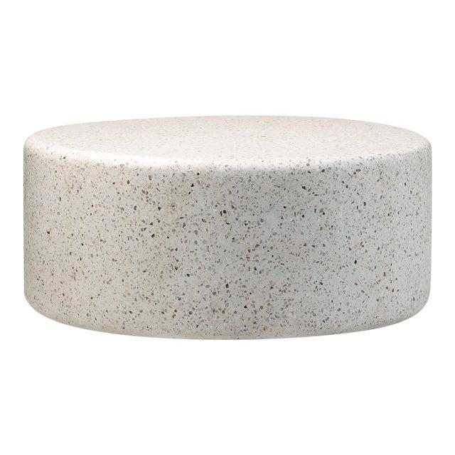 White Round Terrazzo Coffee Table For Sale