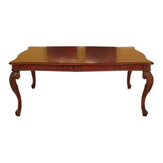Henredon Georgian Mahogany Dining Room Table For Sale