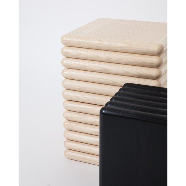 Trey Jones Studio Ebonized Ridge Side Table For Sale - Image 4 of 5